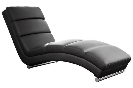 SalesFever Relaxliege schwarz Kunstleder