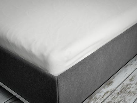 Schlaraffia Spannbetttuch für Topper - White