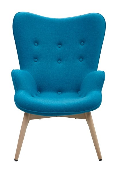 SalesFever Sessel blau Webstoff