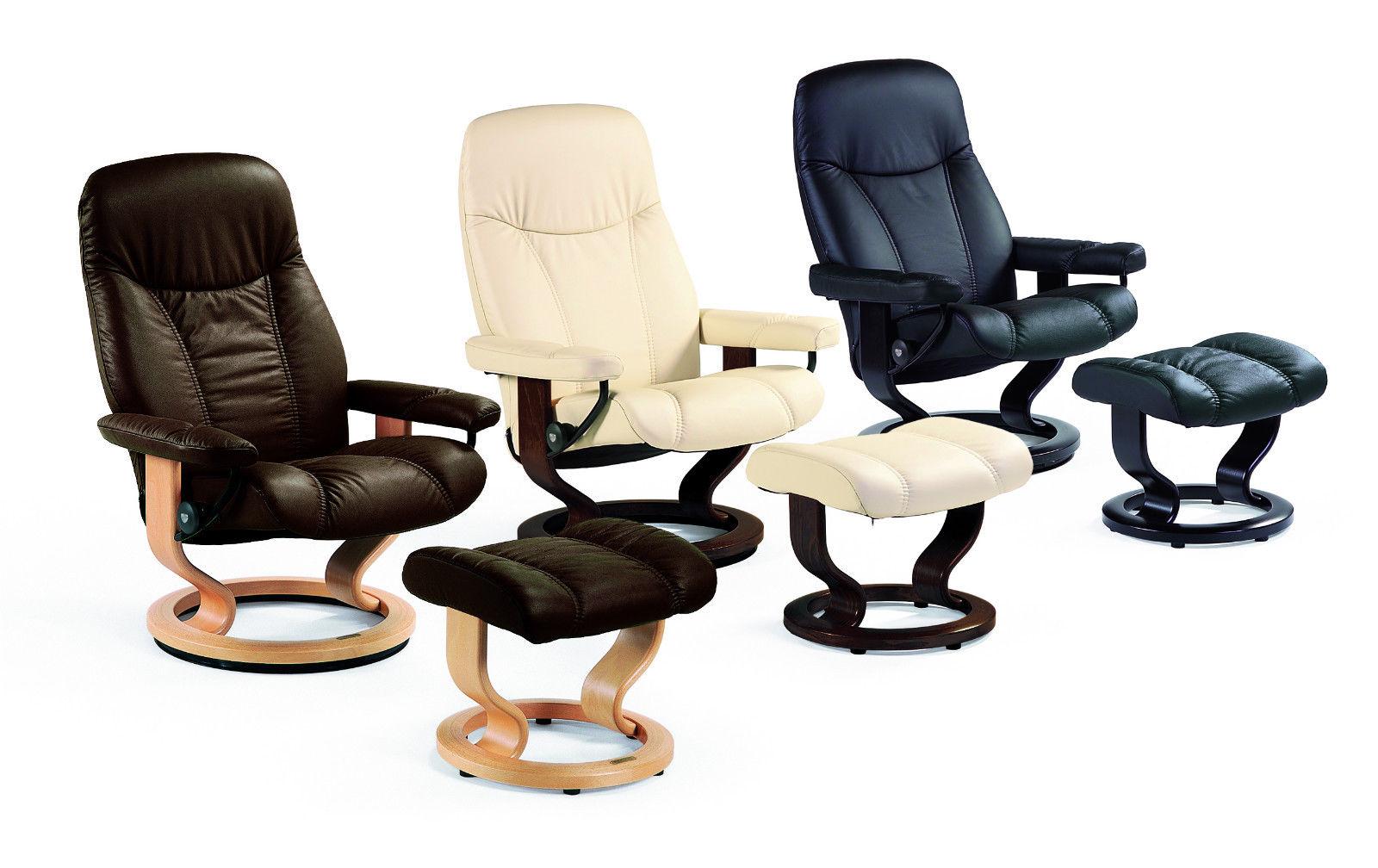stressless consul relaxsessel mit hocker in leder. Black Bedroom Furniture Sets. Home Design Ideas